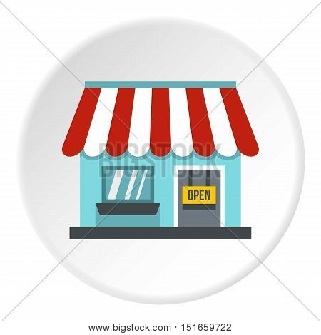 Shop store icon. Flat illustration of shop vector icon for web design