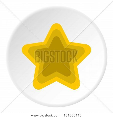 Geometrical figure of five pointed star icon. Flat illustration of geometrical figure of five pointed star vector icon for web