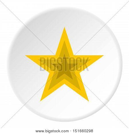 Celestial figure star icon. Flat illustration of celestial figure star vector icon for web