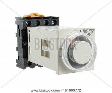 Solid-State Timer with Socket isolated on white background