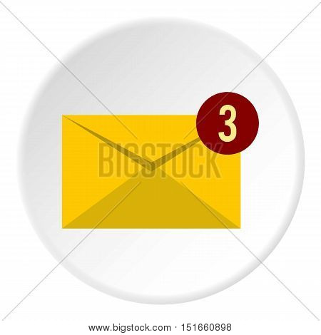 Three new e-mail icon. Flat illustration of three new e-mail vector icon for web
