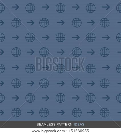 Global Business Seamless Pattern Background Vector Endless texture can be used for wallpaper Pattern fills Web pages
