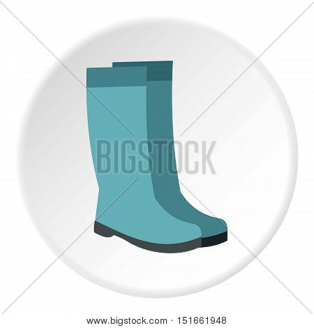 Rubber boots icon. Flat illustration of rubber boots vector icon for web