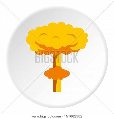 Explosion icon. Flat illustration of explosion vector icon for web