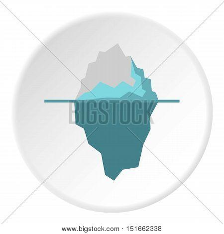 Iceberg icon. Flat illustration of iceberg vector icon for web