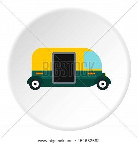 Tuk tuk taxi icon. Flat illustration of tuk tuk taxi vector icon for web