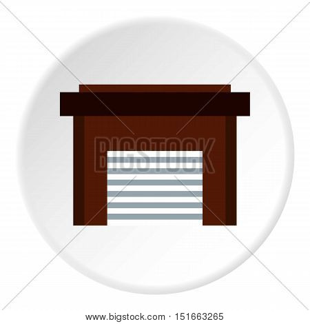 Garage icon. Flat illustration of garage vector icon for web
