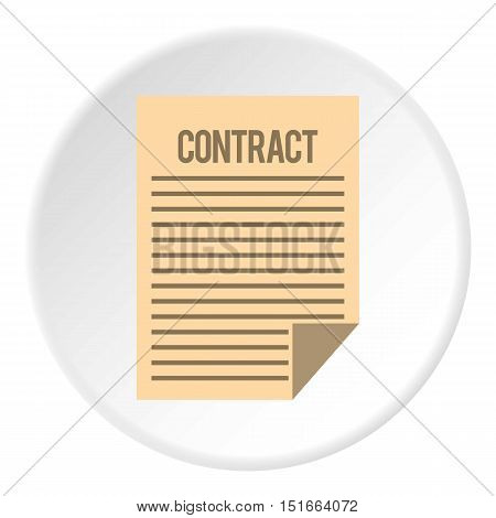 Contract icon. Flat illustration of contract vector icon for web
