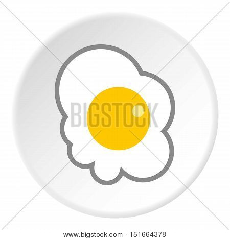 Scrambled eggs icon. Flat illustration of scrambled eggs vector icon for web