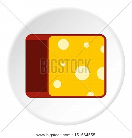 Cheese icon. Flat illustration of cheese vector icon for web