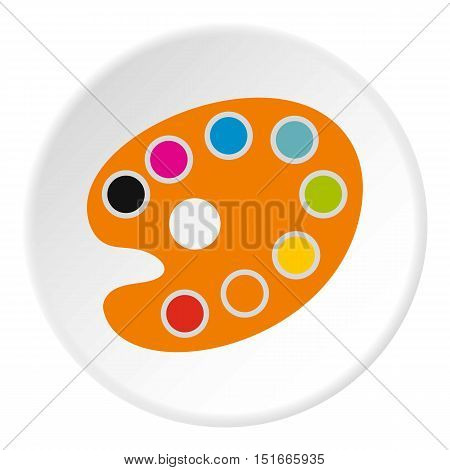 Palette for drawing icon. Flat illustration of palette for drawing vector icon for web