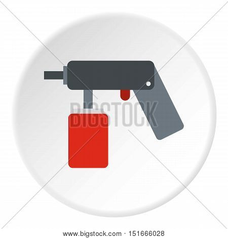 Pulverizer for painting icon. Flat illustration of pulverizer for painting vector icon for web