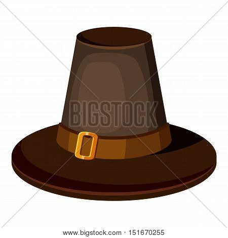 Brown hat icon. Cartoon illustration of brown hat vector icon for web