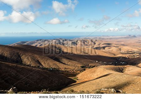 Morro Velosa Pointview - unique views over the wonderful landscape of the north-central region of the island. Fuerteventura Canary Island Spain