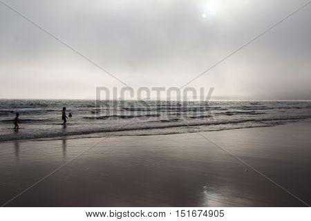Morocco, Agadir - May 22, 2016: Beach in Agadir city in Morocco in 2016