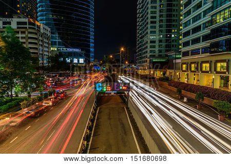 Kuala Lumpur, Malaysia. Oct 12 2016 : The busiest at center city of Kuala Lumpur during peak time.