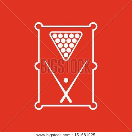 The billiard table icon. Game symbol. Flat Vector illustration