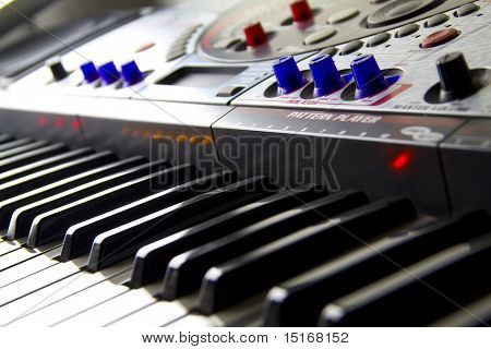 Close Up Of Dj's Electronic Keyboard