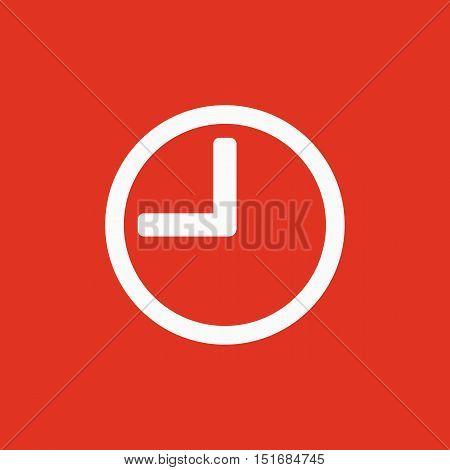 The time icon. Clock sound symbol. Flat Vector illustration