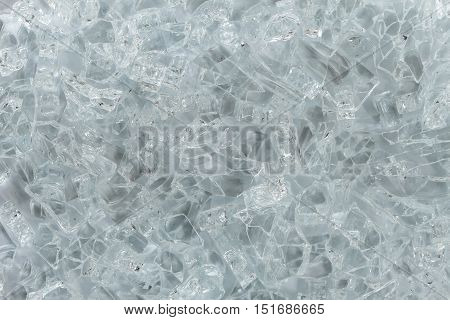 Pieces of broken glass background, Abstract texture.