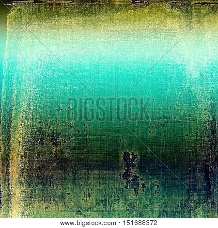 Weathered grunge elements on vintage texture for your design. Aged background with different color patterns: yellow (beige); brown; green; blue; cyan