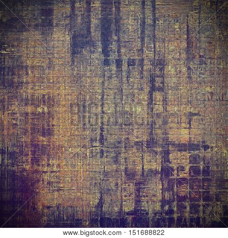 Vintage style background with ancient grunge elements. Aged texture with different color patterns: yellow (beige); brown; gray; blue; purple (violet)