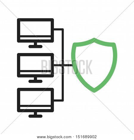 Security, network, antivirus icon vector image. Can also be used for software development. Suitable for use on web apps, mobile apps and print media.