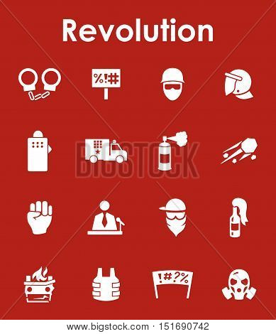 It is a set of revolution simple web icons