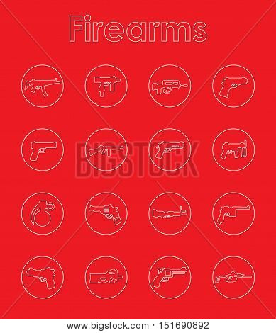 It is a set of firearms simple web icons