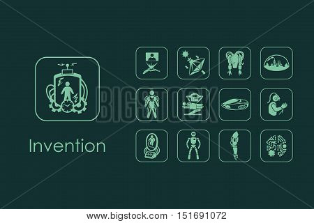 It is a set of invention simple web icons