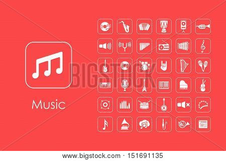 It is a set of music simple web icons