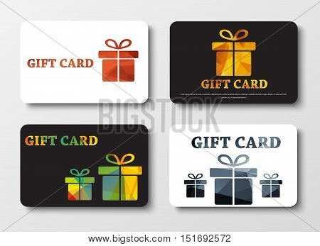 Design Gift Cards With Abstract Polygonal Boxes