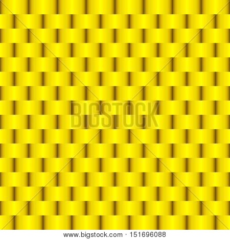 Weave Gold Metal Seamless Pattern Vector Illustration