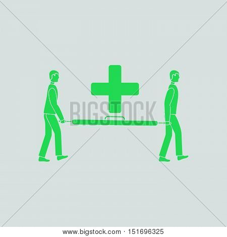 Soccer Medical Staff Carrying Stretcher Icon