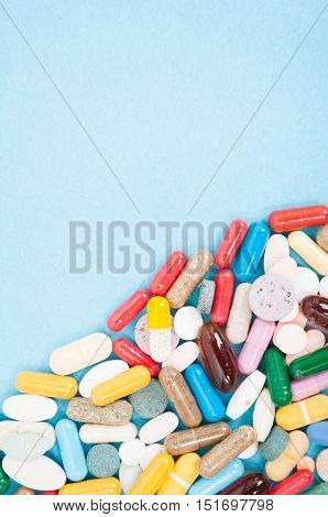 Colorful Tablets And Capsules