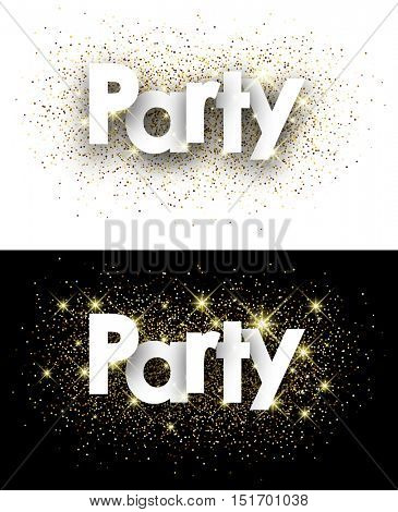 Party paper background with shining sand. Vector illustration.