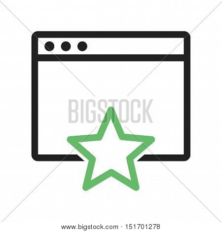 Favorite, add, page icon vector image. Can also be used for user interface. Suitable for mobile apps, web apps and print media.