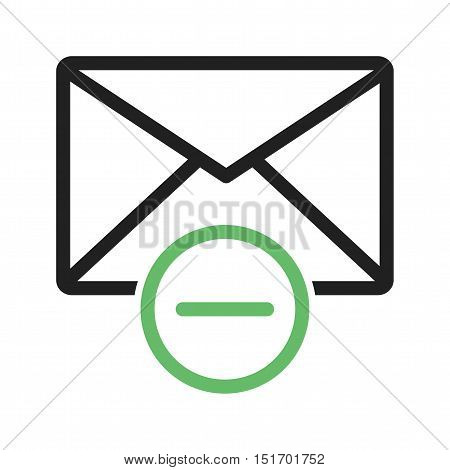 Delete, mail, message icon vector image. Can also be used for user interface. Suitable for mobile apps, web apps and print media.