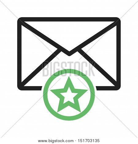 Email, favorite, message icon vector image. Can also be used for user interface. Suitable for web apps, mobile apps and print media.