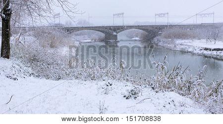 Cecina, Livorno, Tuscany - Snowfall