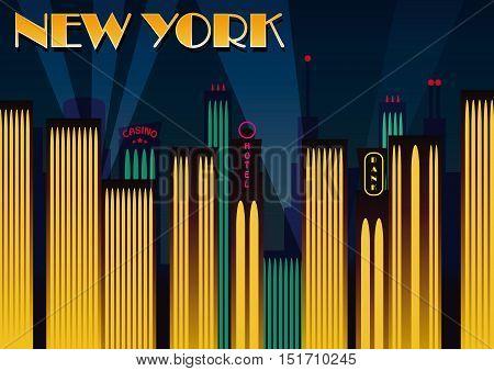 New York city. Fashion ciy. Vector illustration