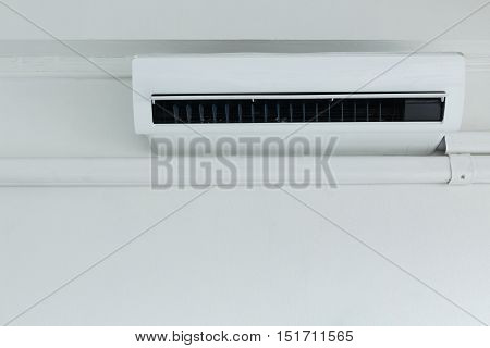 cool air conditioner system on white wall room