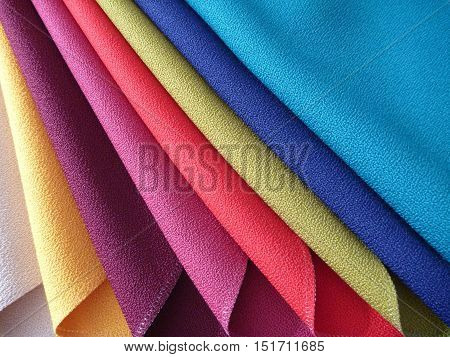 Variety Of Choice Of Colorful Fabrics