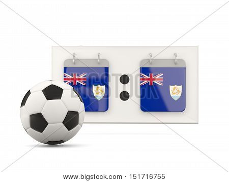 Flag Of Anguilla, Football With Scoreboard