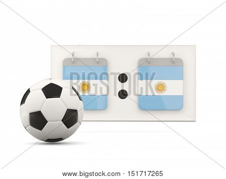 Flag Of Argentina, Football With Scoreboard