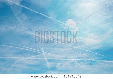 Jet streams in the sky