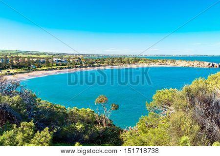 Dramatic view at Horseshoe Bay in Port Elliot South Australia