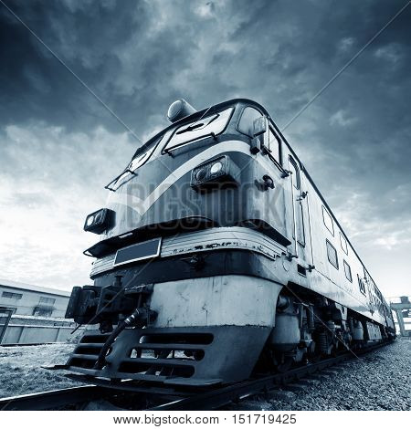 Abandoned vintage train out of years of rusting.