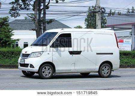 CHIANGMAI THAILAND - OCTOBER 6 2016: Mini Private van Rely Yo Yo van. Product from China. Photo at road no 1001 about 8 km from downtown Chiangmai thailand.