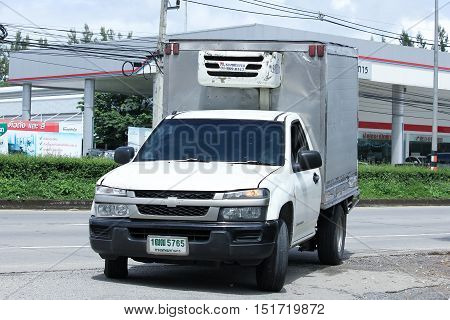CHIANGMAI THAILAND - OCTOBER 6 2016: Drinking water delivery truck of PN company. On road no.1001 8 km from Chiangmai city.